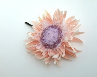 Wedding Hair Flower Pins Bridal Hair Pin Pink Bridal Hair Flower Clip Wedding Hair Clip Bridal Hair Piece Hair Accessories Hair Jewelry