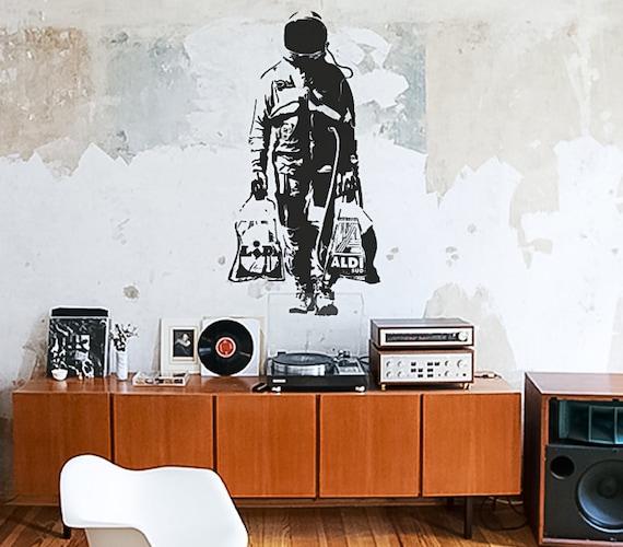Banksy CCTV Abziehbild Vinyl Wand Aufkleber Kunst Graffiti Street
