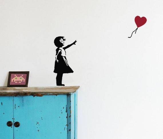 Wall Decals Wall Stickers-Baby Heart-banksy