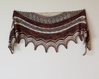 Sorrento Wrap. KIT - yarn and pattern.