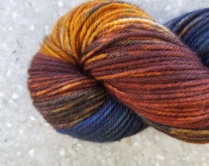 Hand dyed yarn - 115g Fine Superwash Merino -  DK weight (8 ply) in 'Dark Cirque'