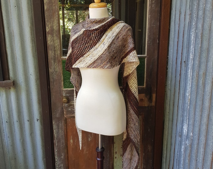 Sienna Wrap. KIT - yarn and pattern.