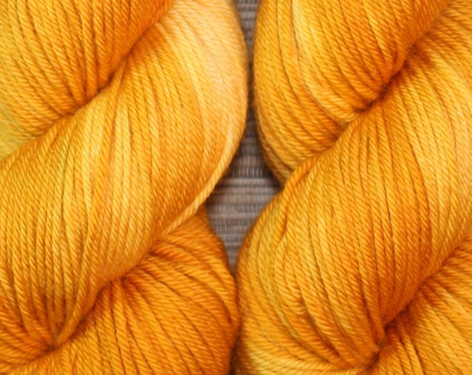 Hand dyed yarn - 'Mango Tango' - dyed to order on your choice of base yarn.
