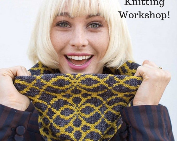 2 colour stranded knitting workshop at Itty Bitty Yarn Shop