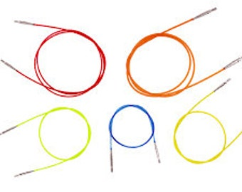 Interchangable circular knitting needle CABLES.  KnitPro.