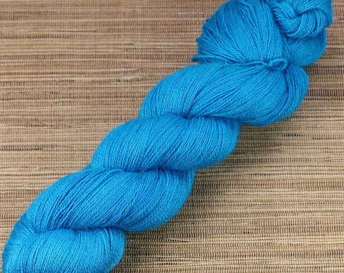 Hand dyed yarn - 100g Alpaca/Silk Lace weight in 'Deep Teal'
