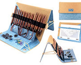 Deluxe KnitPro Ginger wood interchangable circular needle set.