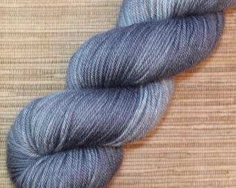 Hand dyed yarn - 115g Fine Superwash Merino -  DK weight (8 ply) in 'Graphite'