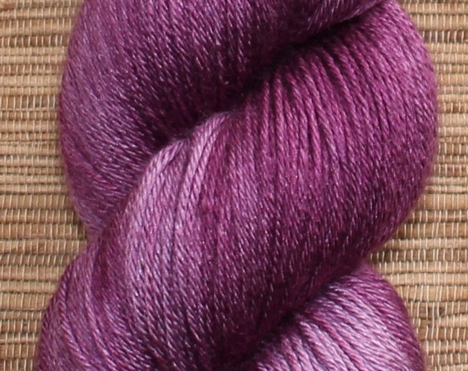 Hand dyed yarn - 100g Silk/Merino fingering weight in 'Orchid' - With free cowl pattern
