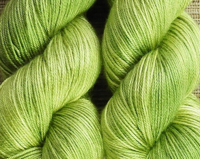 Hand dyed yarn - 'Peridot' - dyed to order on your choice of base yarn.