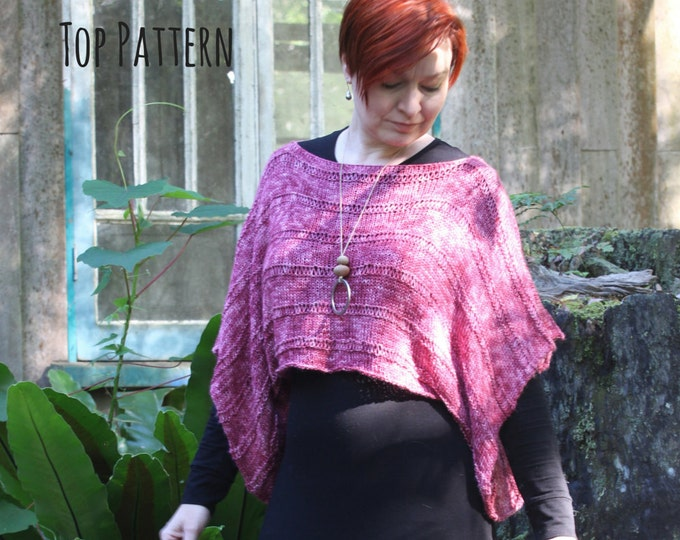 Cloud Forest Linier Top Pattern.  PATTERN ONLY!!!