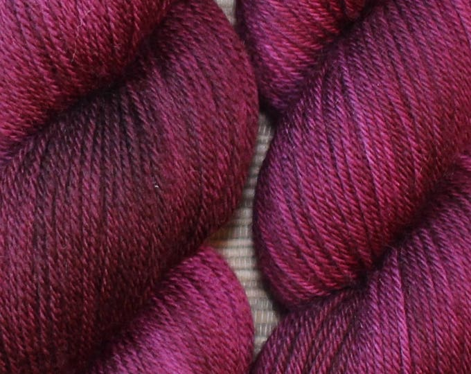 Hand dyed yarn - 'Sangria' - dyed to order on your choice of base yarn.
