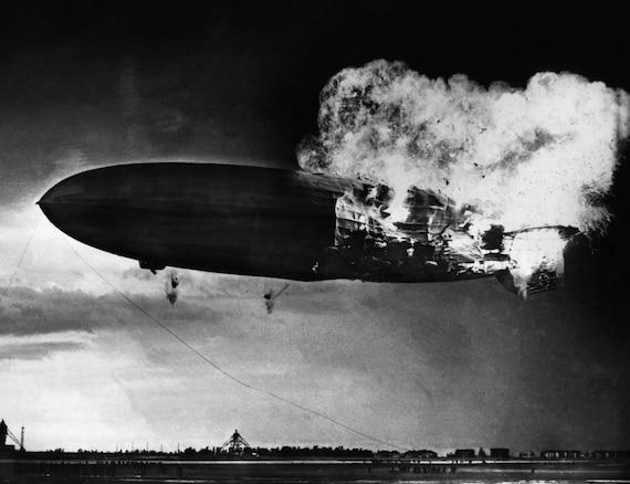 Hindenburg disaster photo print poster blimp explosion divorce solutioingenieria Image collections