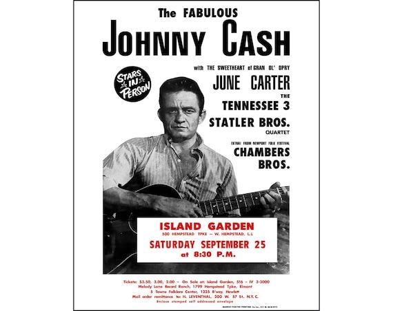 Johnny Cash Repro Tour POSTER Sept
