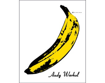 Andy Warhol poster banana Velvet Underground poster pop art print cool poster album record cover art