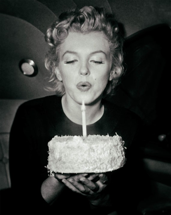 Awe Inspiring Marilyn Monroe Photo Print Poster Picture Birthday Cake Old Etsy Funny Birthday Cards Online Alyptdamsfinfo
