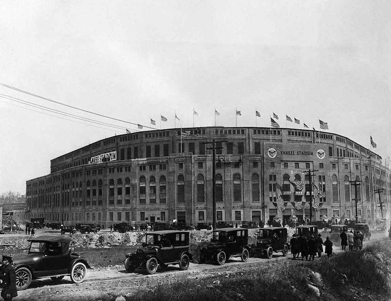New York Yankee Stadium vintage photograph print poster NY image 0