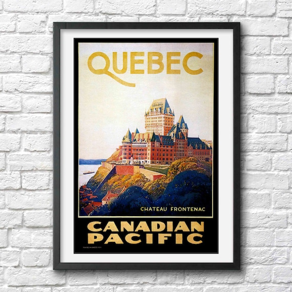 Art Deco Travel Posters Lovely Vintage Retro Holiday Tourism *Unique* Quebec