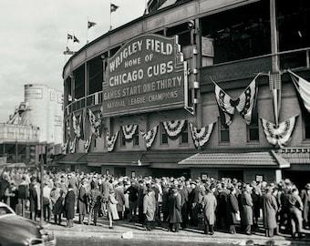 Chicago Cubs Wrigley Field vintage photo baseball stadium antique photograph sports 1945 World Series PRINT