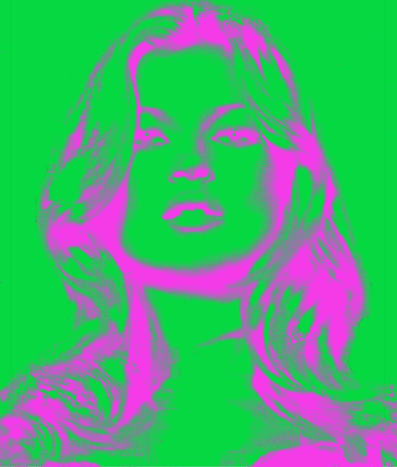 ff451ed252418 Kate Moss pop art print poster fashion photo photograph female