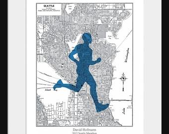 Seattle marathon | Etsy