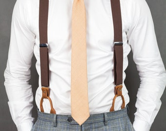 b3a922fda1b Brown suspenders for men