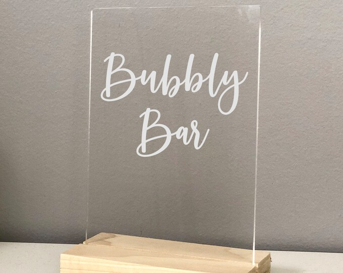 Bubbly Bar Acrylic Sign