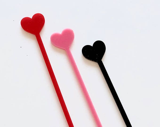 Heart Stir Stick - Set of 10