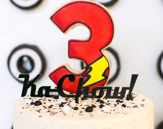 Cars Theme- KaChow Cake Topper  - Acrylic or Wood