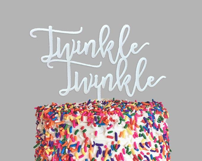 Baby Cake Topper - Twinkle Twinkle - Acrylic or Wood