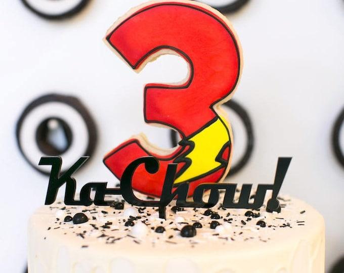 Cars Theme- KaChow Cake Topper  - Acrylic or Wood