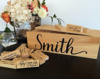 Tumbling Tower Guest Book - Personalized Wedding Guest Book