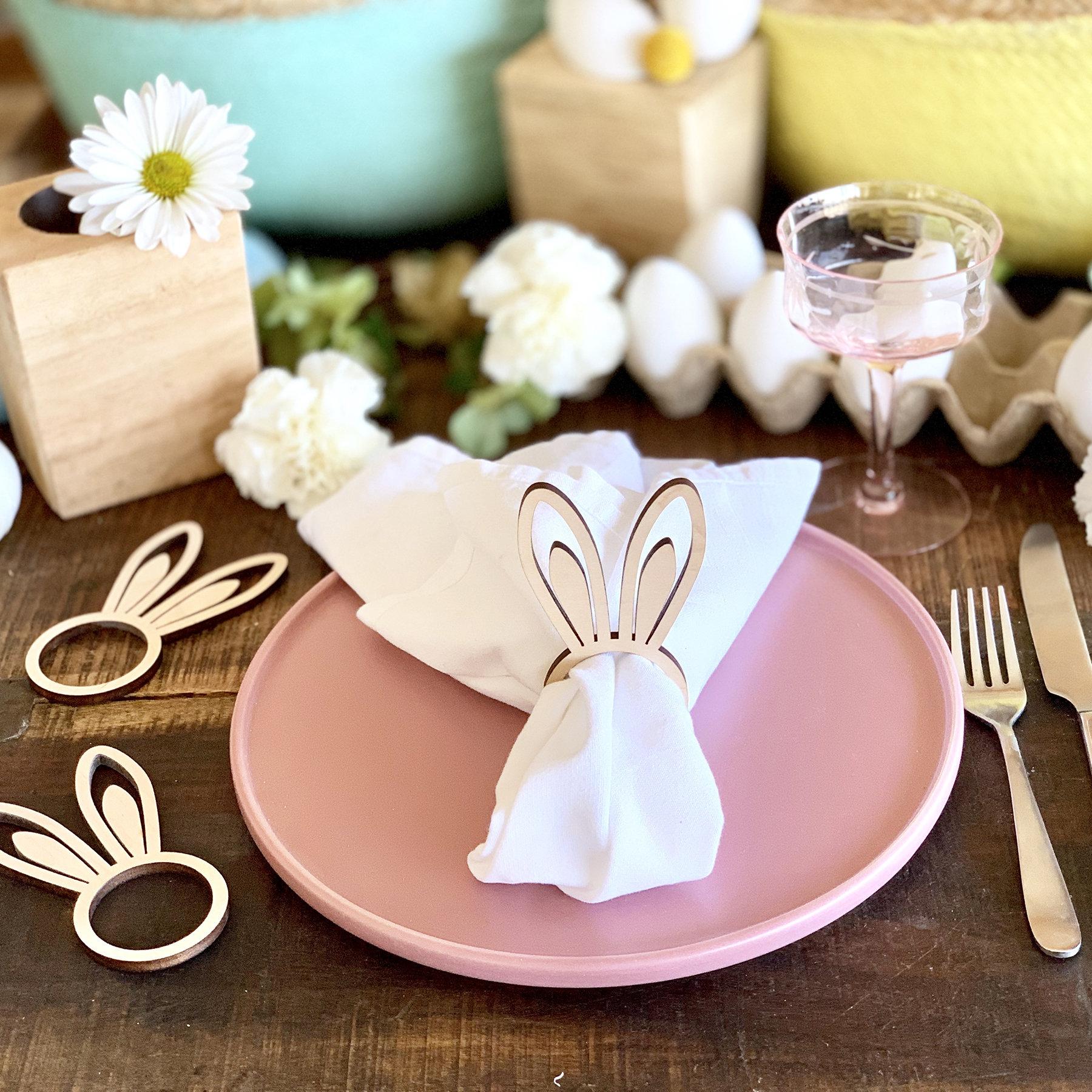 Bunny Ears Nakin Ring - Set of 6 Wood