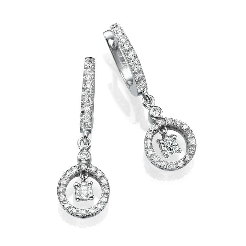 956de41fcda Classic Diamond Drop Earrings in 14K White Gold for Women