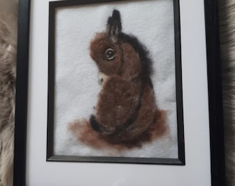 Needle felted donkey ..2d picture