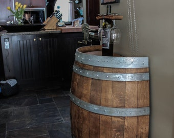 Wine Barrel Furniture Etsy