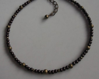 Brown pearl anklet, beaded anklet, pearl ankle bracelet, bronze anklet, beach anklet, beach jewellery, boho anklet, boho jewellery