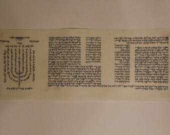 Pitum HaKetoret + Menorah Scroll - Hand scribed in Holy Jerusalem