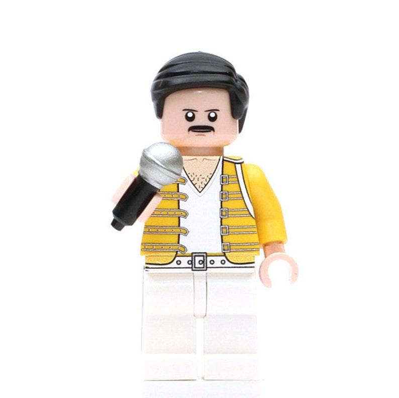 Freddie Mercury Minifigure QUEEN MINI FIGURE Bohemian Rhapsody Rock