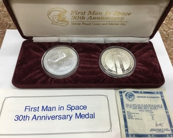 Astronauts & Space Travel Fiery Re-entry Attractive Fashion Apollo 13 Space Flown To The Moon Material Large Silver Coin Collectibles