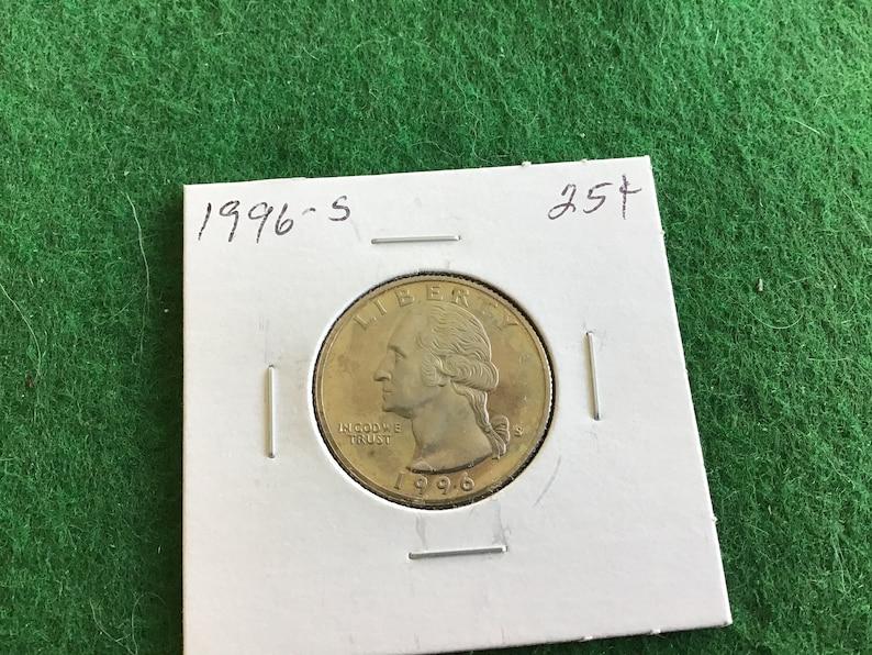 In a Protective 2x2 1996-S Quarter Coin No 3599