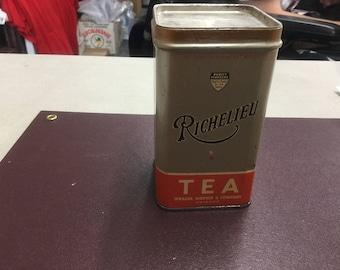Richelieu Vintage tea can