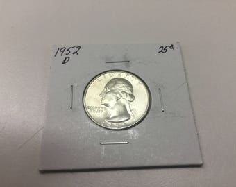 1952-D Washington Quarter in great condition