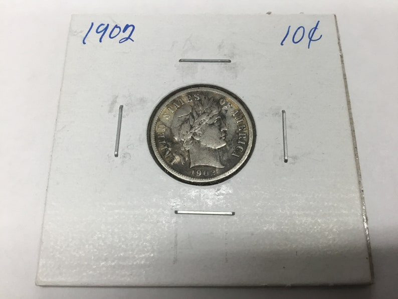 1 Coin Classic AG//Better 90/% Silver Full Date $.10 1892-1916 Barber Dime U.S