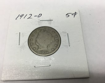 1912-D liberty head v nickel