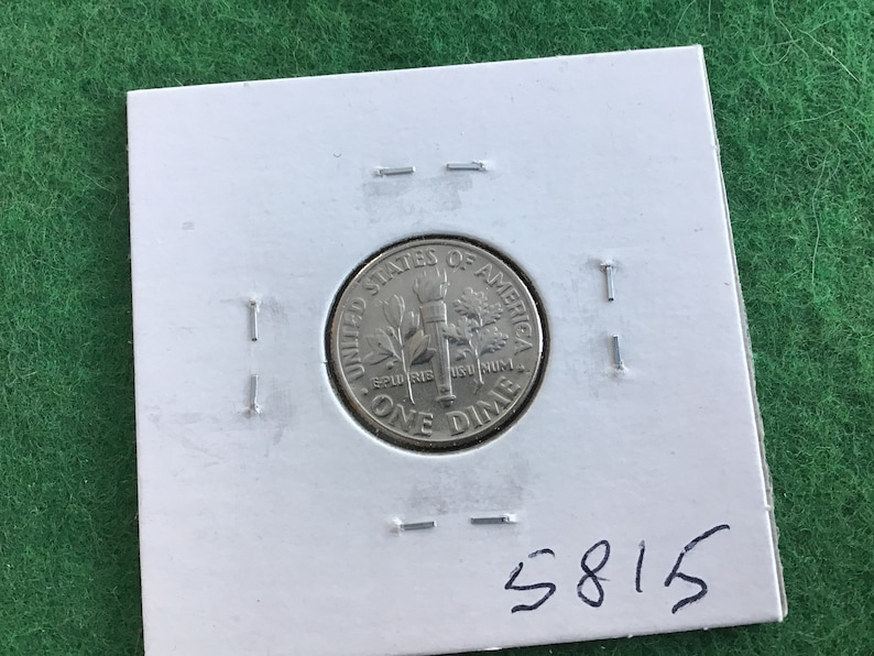 Dime 1986-P Coin No 5815 In a Protective 2x2