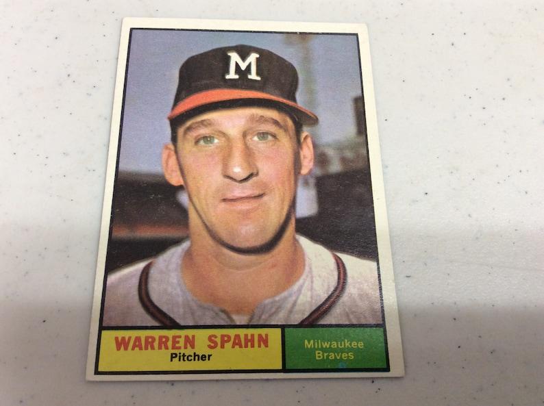 1961 Topps Warren Spahn Baseball Card