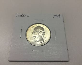 1955-D Washington Quarter in great condition