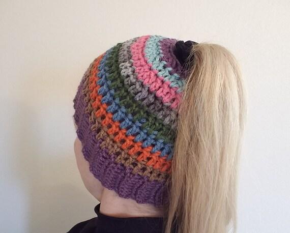 PONYTAIL HAT Messy Bun Hat Ponytail Hole Hat Ponytail  35eea2e419b