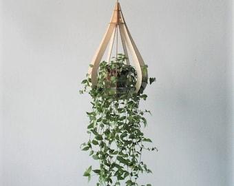 DROPLET Wooden Plant Hanger Kit / House Warming Gift / Lightweight Hanger / Indoor Plant /  Plant Pot Holder / Hanging Plant / House Plant